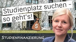 youtube video Studienfinanzierung